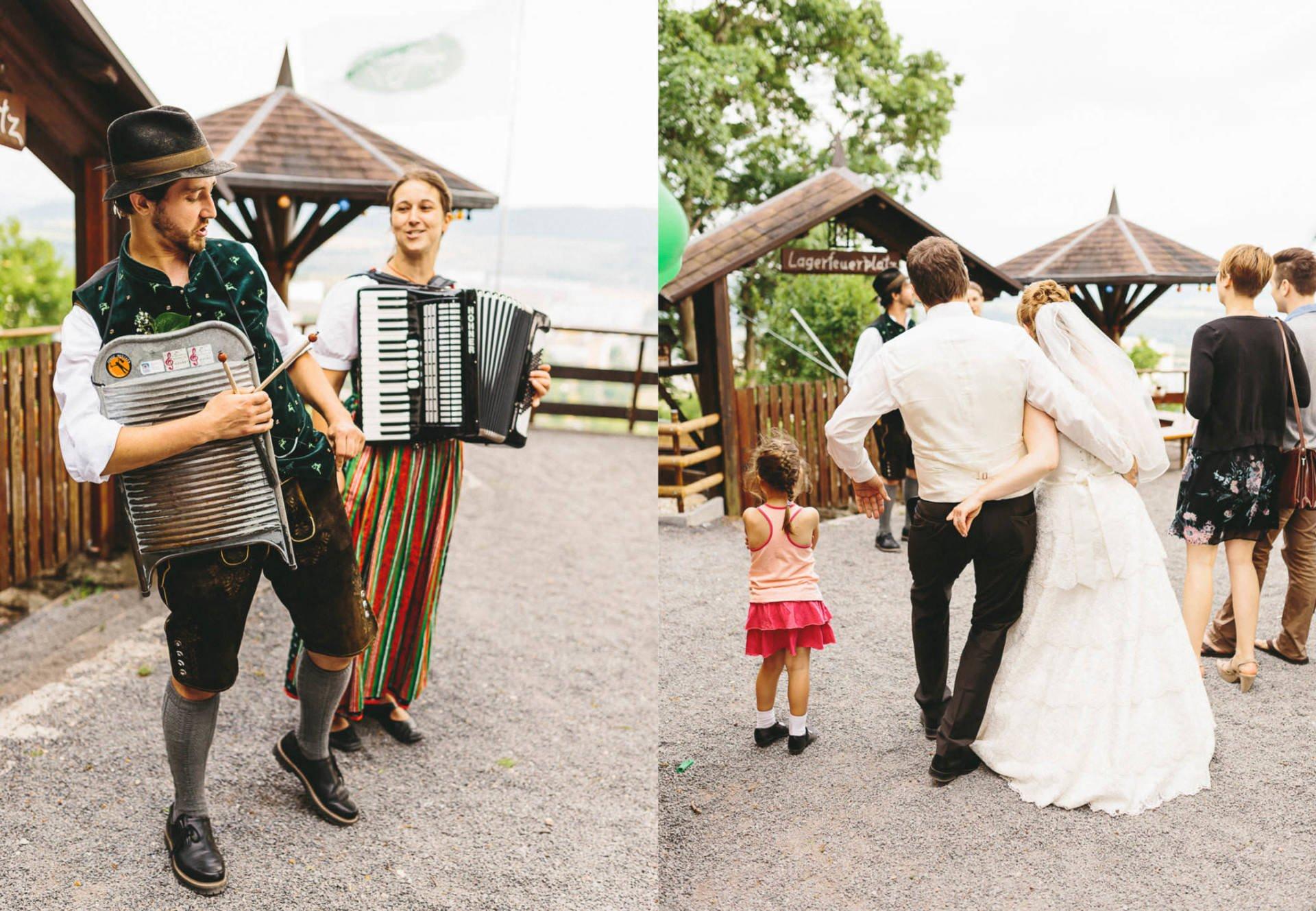 Bayrische Hochzeit Collage 3 - Bayrische Jagdhüttenhochzeit in Thüringen