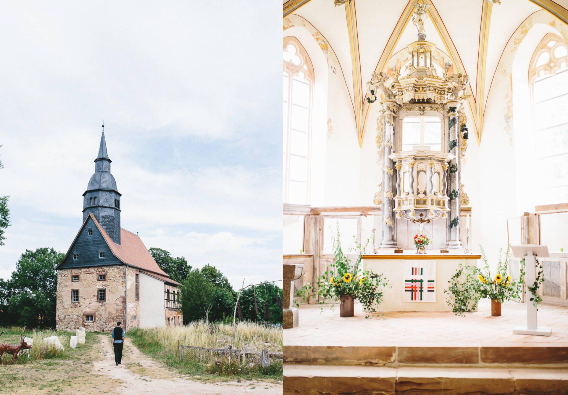 Schöngleina Collage 1 - Hochzeit in Kreuzgewölbe Schöngleina