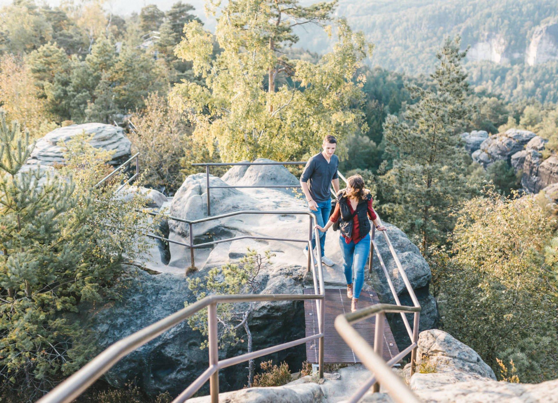 Paarportrait Elbsandsteingebirge 19 - Paarshoot im Elbsandsteingebirge