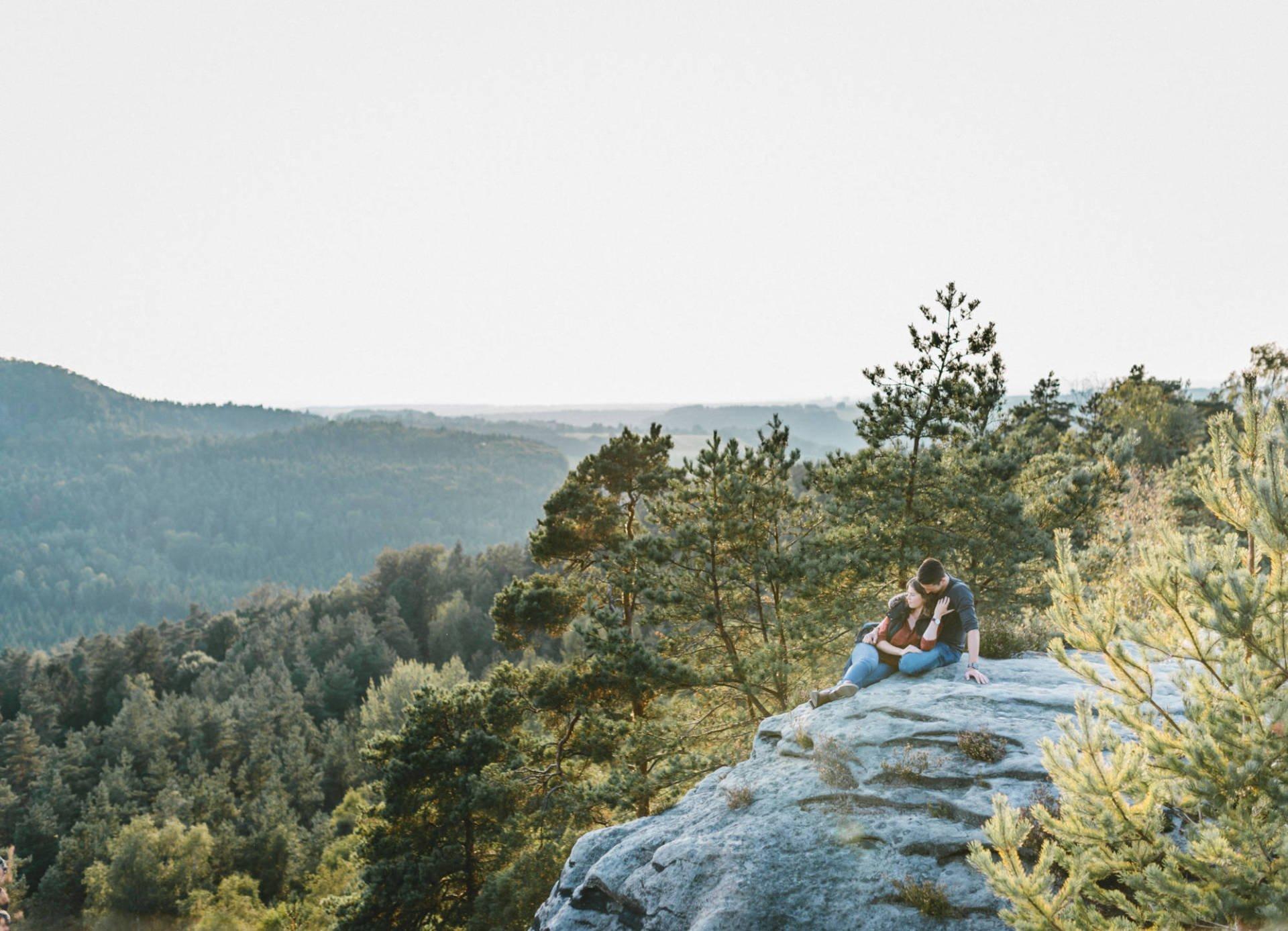 Paarportrait Elbsandsteingebirge 20 - Paarshoot im Elbsandsteingebirge